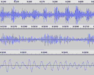 The time domain waveform didn't look very special, but it certainly sounded interesting. I was expecting something more square.