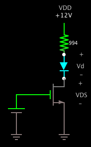 MOSFET Switching LED
