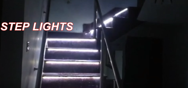 sample stairs lights