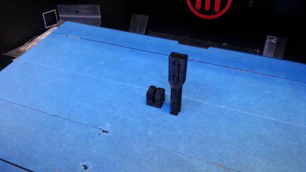 Earlier models freshly printed from the Replicator 2.
