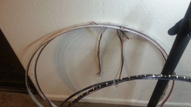 Aluminium and copper rings with wire harnesses